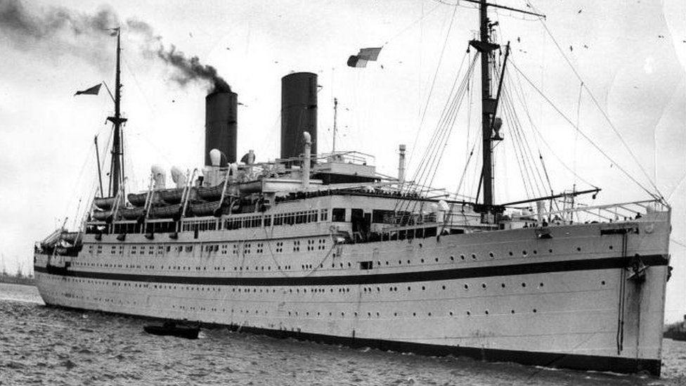 A steam ship